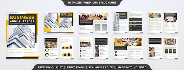 A4 brochure layout template with modern style use for company profile and annual report