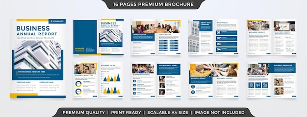 A4 brochure template design with minimalist style and modern concept