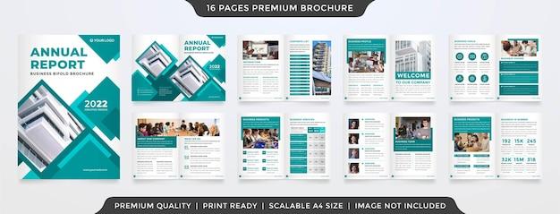 A4 business bifold brochure premium vector