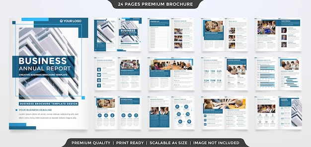 A4 business brochure layout template with premium vector