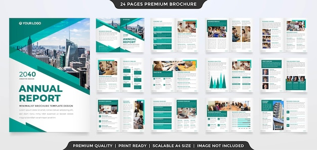 A4 business brochure layout with simple style use for corporate annual report and proposal