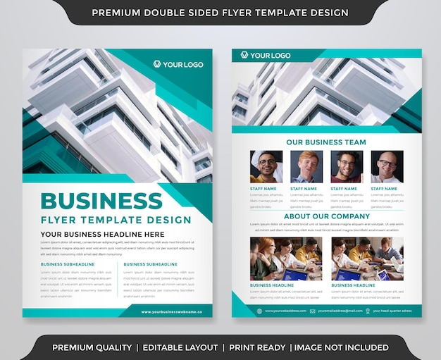A4 business brochure template design with abstract and premium style