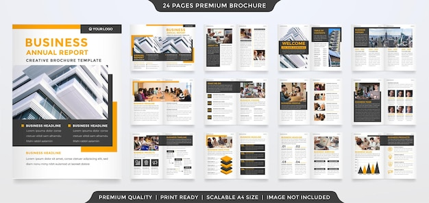 A4 business brochure template design with minimalist and clean style