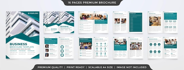 A4 business brochure template premium style