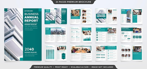 A4 business corporate brochure template with minimalist and premium style