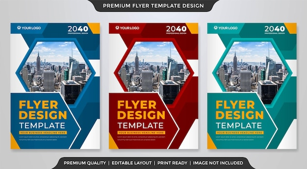 A4 business flyer template design with abstract style use for business promotion poster