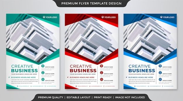 A4 business flyer template design with modern and