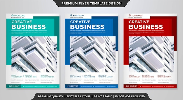 A4 business flyer template premium style