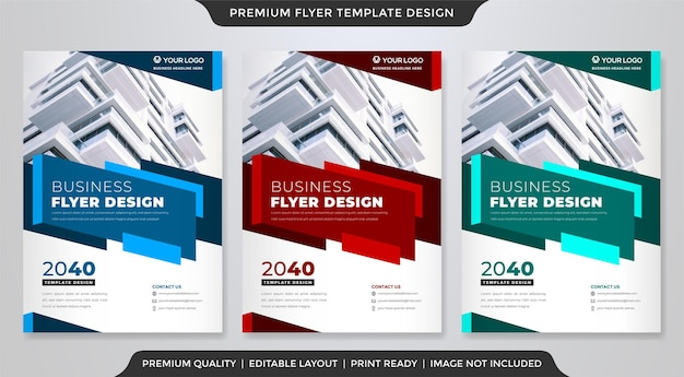 A4 business flyer template
