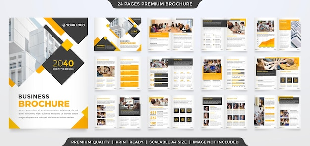 A4 corporate brochure template with minimalist and premium style