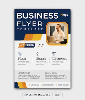 A4 corporate business flyer template or cover