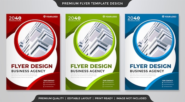 A4 corporate flyer design with abstract style use for business poster