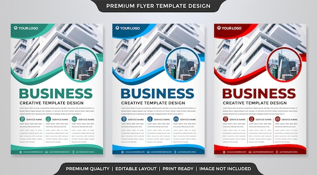 A4 corporate flyer template design with abstract and modern style