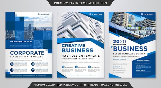 A4 corporate flyer template premium vector