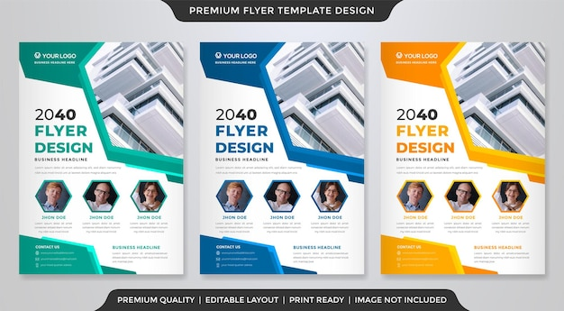 A4 flyer template design with abstract layout use for business cover