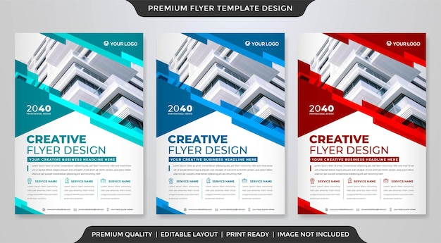 A4 flyer template design with abstract style use for business promotion poster