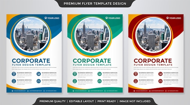A4 flyer template design