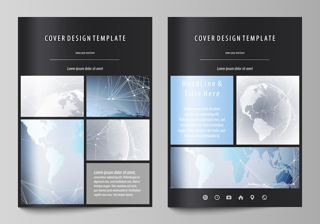 A4 format covers design templates for brochure