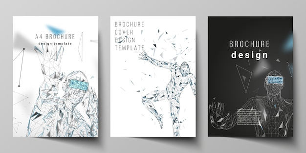 A4 format modern cover mockups design templates