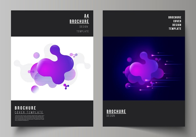 A4 format modern cover templates for brochure