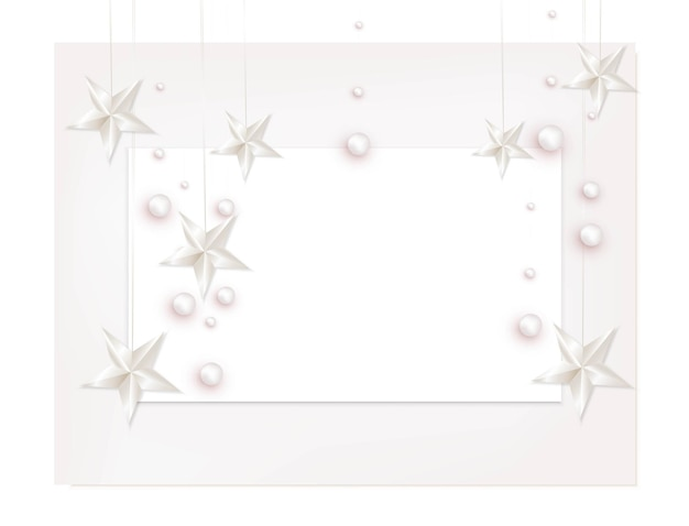A4 paper sheets with decorative elements