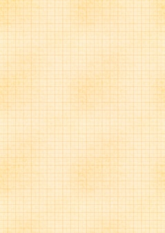 A4 size yellow sheet of old paper with engineering millimeter grid