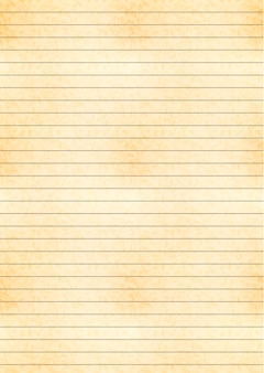 A4 size yellow sheet of old paper with one centimeter grid