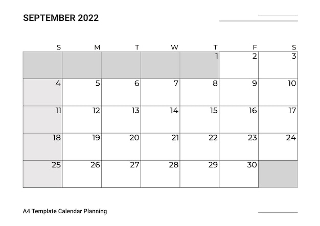 A4テンプレートカレンダー企画9月