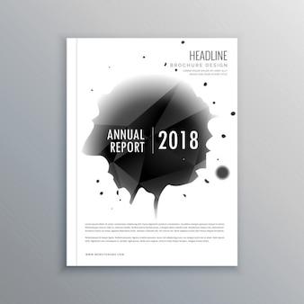 A4プリントサイズでの年次報告書ビジネス雑誌の表紙のテンプレート