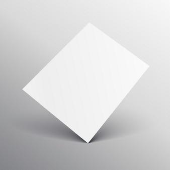 エレガントな白のa4の紙のモックアップ