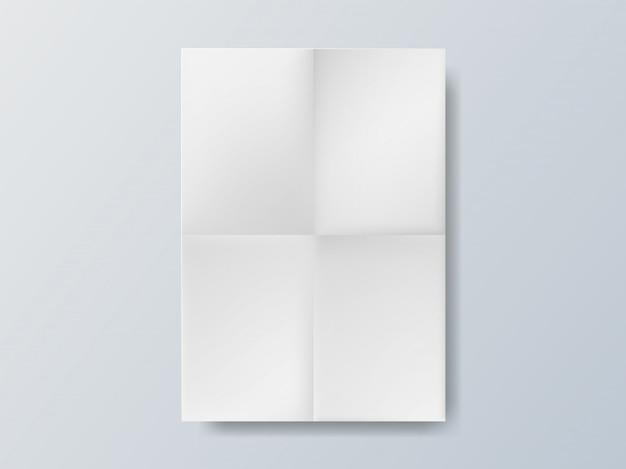 白い空の用紙サイズa4のパンフレット