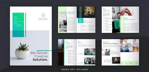 ミニマリストa4創造的なビジネスパンフレットテンプレート