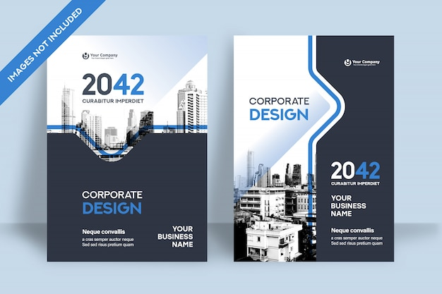 Фирменный шаблон оформления обложки книги в формате a4.