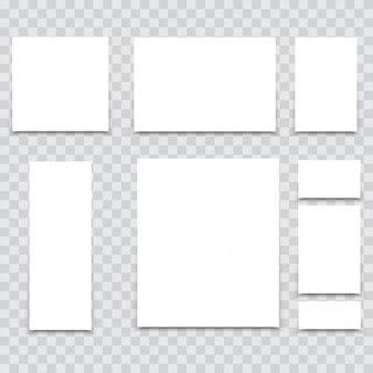 ブランディングのための机の上のa4用紙。ベクター。