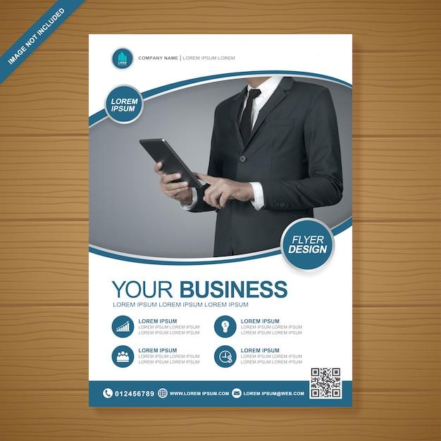 ビジネスカバーa4チラシデザインテンプレート