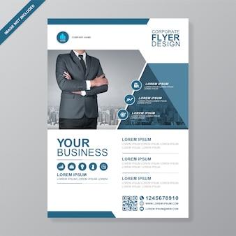 企業のビジネスカバーa4チラシデザインテンプレート