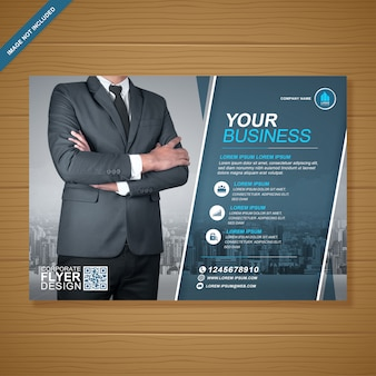 企業のビジネスカバーa4チラシテンプレート