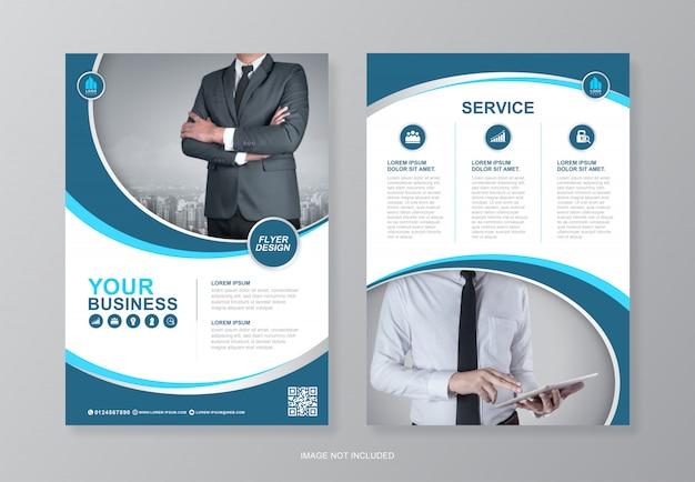 企業のビジネスページa4チラシデザインテンプレート