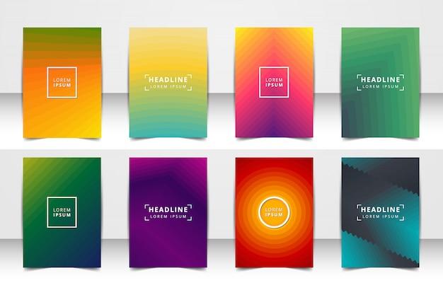 抽象的なベクトルレイアウト背景セット。アートテンプレートデザイン、リスト、フロントページ、モックアップパンフレットテーマスタイル、バナー、アイデア、カバー、小冊子、印刷、チラシ、本、空白、カード、広告、サイン、シート、a4。