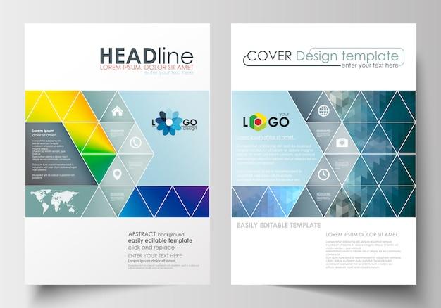 パンフレット、雑誌、チラシ、ブックレットのビジネステンプレート。 a4サイズのカバーデザインテンプレート
