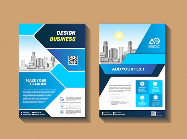 カバーテンプレートa4サイズビジネスパンフレット年次報告書