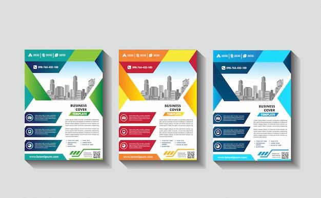 カバーポスターa4カタログ本パンフレットチラシレイアウト年次報告書ビジネステンプレート