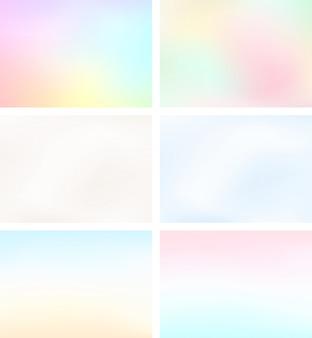 Абстрактные размытие света градиентный фон набор a4 пейзаж