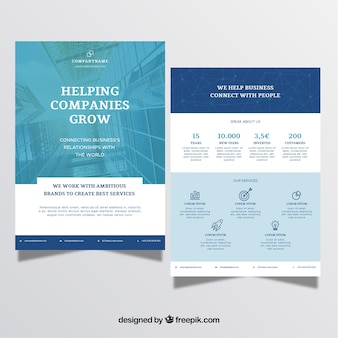 A5 business brochure in flat style