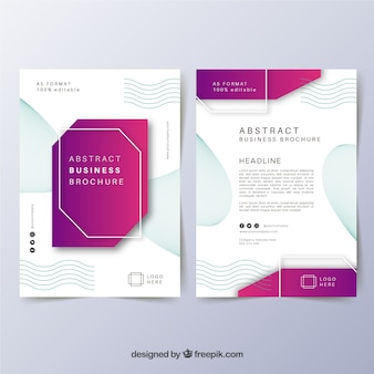 A5 business brochure template
