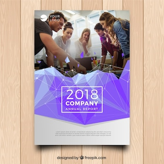 A5 business cover template with image