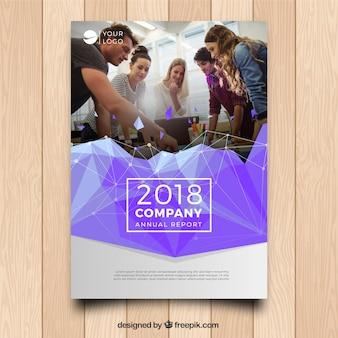 Шаблон бизнес-обложки a5 с изображением