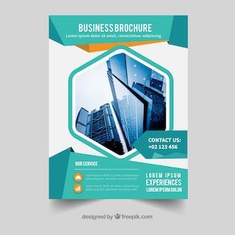 フラットスタイルのa5サイズのビジネスパンフレット