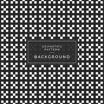 ストライプラインタイルaシームレスな背景を持つ抽象的な幾何学模様。黒と白のテクスチャ。