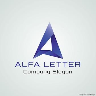 文字aで幾何学的なロゴ